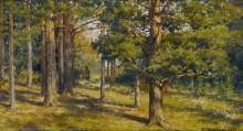 Лесной пейзаж - Шишкин, Иван Иванович