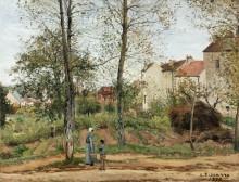 Осенний пейзаж в окрестностях Лувесьена - Писсарро, Камиль