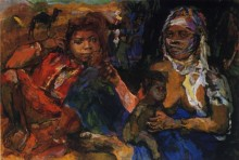 Арабские женщины и ребенок - Кокошка, Оскар