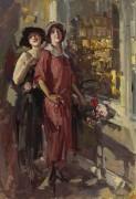 У окна, 1923 - Коровин, Константин Алексеевич