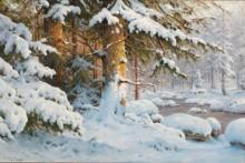 Зимний пейзаж - Морас, Вальтер