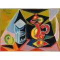 Натюрморт со стаканом и фруктом - Пикассо, Пабло