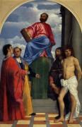Святой Марк на троне со святыми - Тициан Вечеллио