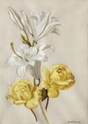 Лилии и розы - Лемпицка, Тамара