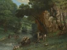 Олени у ручья - Курбе, Гюстав