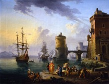 Турецкие купцы на пристани - Лаллеман, Жан-Батист