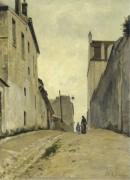 Улица Мон-Сени на Монмартре, 1868-72 - Лепин, Станислас