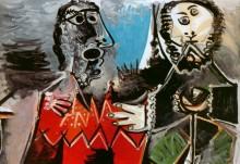 Два персонажа в костюмах, 1969 - Пикассо, Пабло