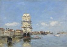 Венеция, судна у пристани. Канал де-ла-Джудекка, 1895 - Буден, Эжен