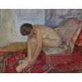 Сидящая обнаженная женщина - Лебаск, Анри