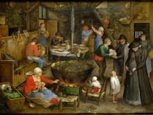 Посещение крестьянского дома - Брейгель, Ян (Старший)
