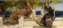 Обращение в веру Паулы святым Иеронимом - Альма-Тадема, Лоуренс
