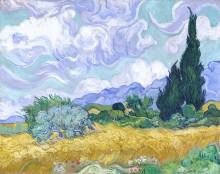 Пшеничное поле с кипарисами (Wheat Field with Cypresses), 1889 - Гог, Винсент ван