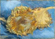 Два срезанных подсолнуха (Still Life with Two Sunflowers), 1887 - Гог, Винсент ван