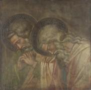 Двое  скорбящих, окруженные ореолом - Спинелло Аретино,( Спинелло из Ареццо, Спинелло ди Лука)