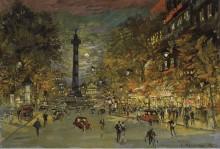 Площадь Бастилии в Париже - Коровин, Константин Алексеевич