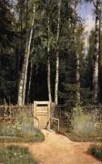 У калитки. Сиверская, 1874-1883 - Шишкин, Иван Иванович
