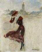 Парижанка в красном платье - Беро, Жан