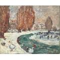 Зимний пейзаж с конькобежцами - Вальта, Луи