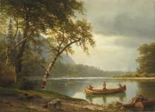 Ловля лосося на реке - Бирштадт, Альберт