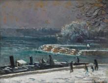 Шлюз Моста искусств, зима, 1913 - Люс, Максимильен