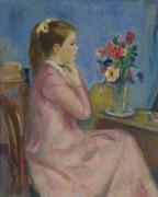 Евгения в розовом платье, 1955 - Галл, Франсуа