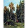 Вечер, 1892 - Шишкин, Иван Иванович