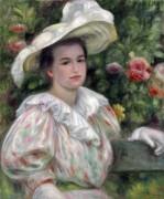 Портрет дамы в белой шляпе - Ренуар, Пьер Огюст