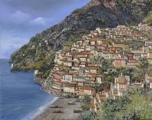 Пейзаж с видом на Позитано - Борелли, Гвидо (20 век)