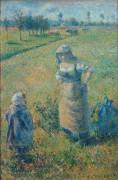 Крестьянка с ребенком в поле, Понтуаз - Писсарро, Камиль