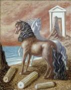Две лошади на берегу - Кирико, Джорджо де