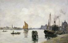 Пейзаж в Венеции - Буден, Эжен