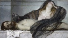 Мария Магдалина над телом Христа - Бёклин, Арнольд