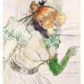 Артистка в зеленых перчатках - Тулуз-Лотрек, Анри де