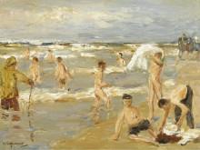 Купание мальчиков, 1909 - Либерман, Макс