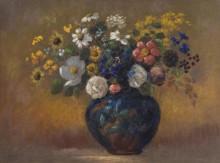 Полевые цветы в вазе - Редон, Одилон