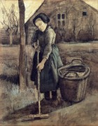 Девушка сгребает (A Girl Raking), 1881 - Гог, Винсент ван