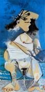Писающая, 1965 - Пикассо, Пабло