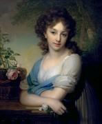 Портрет Елены Александровны Нарышкиной, 1799 -  Боровиковский, Владимир Лукич