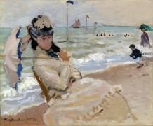 Камилла на пляже в Трувиле - Моне, Клод