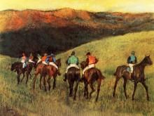 Скаковые лошади на тренировках, 1894 - Дега, Эдгар
