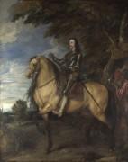 Портрет Карла I  на коне - Дейк, Антонис Ван