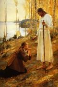 Христос и Мария Магдалина . 1890  Albert Edelfelt - Эдельфельт, Альберт