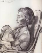 Жаклин поджавшая ноги, 1954 - Пикассо, Пабло
