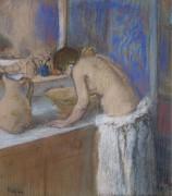 Молодая женщина за туалетом, 1895 - Дега, Эдгар