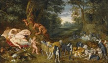 Сатиры и спящие нимфы - Брейгель, Ян (младший)