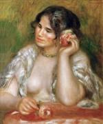 Габриэлла Ренар с розой - Ренуар, Пьер Огюст