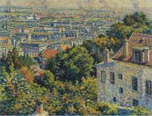 Монмартр, улица Корто, вид на Сен-Дени, 1900 - Люс, Максимильен
