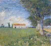 Ферма в пшеничном поле  (Farmhouse in a Wheat Field), 1888 - Гог, Винсент ван