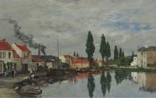 Брюссель, канал Лувен, 1871 - Буден, Эжен